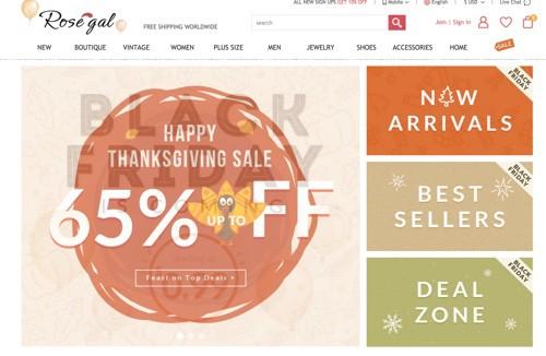 rosegal-webseite